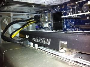 Installed ATI Radeon HD R6870 Video Card