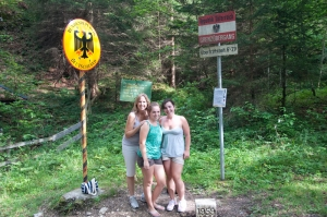 Border Crossing from Austria into Germany from Rick Steves Recommended Hike